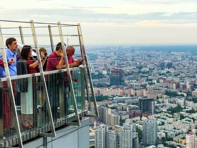 Панорамная смотровая площадка в Москва-Сити