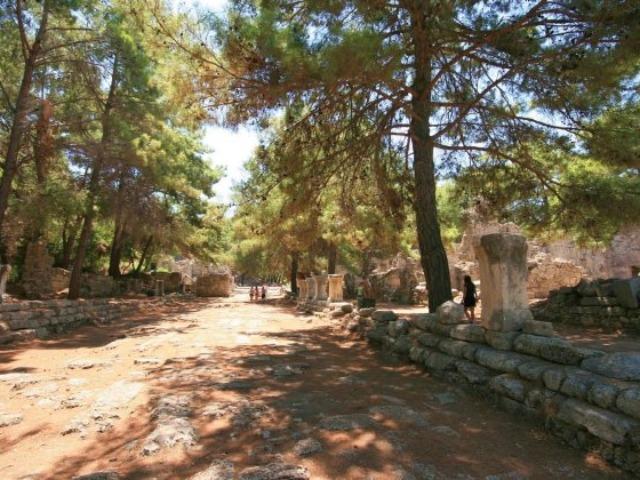 Античный город Фазелис и канатная дорога