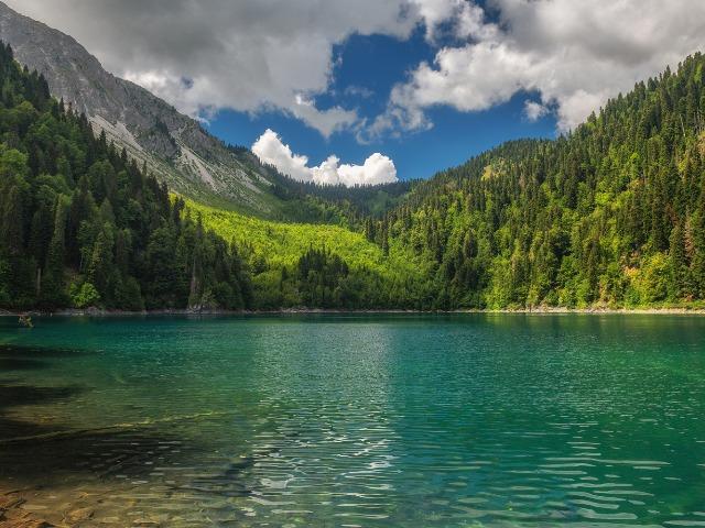 Озеро Рица - зеркало души