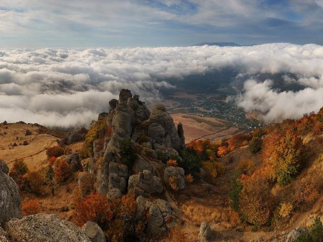 Горы и водопады Крыма