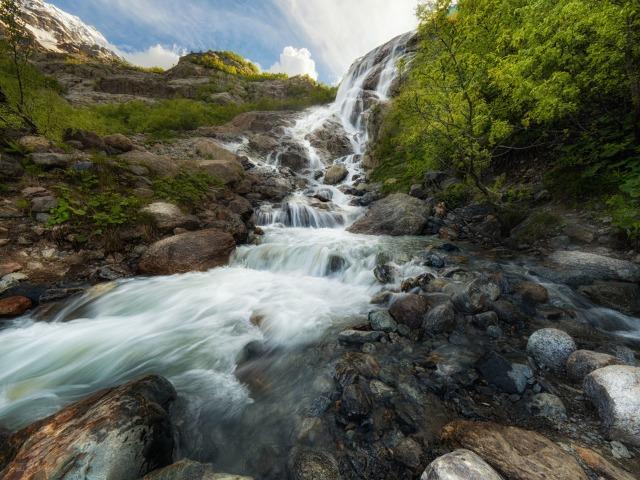 Домбай пешком: Турье озеро и Алибекский водопад