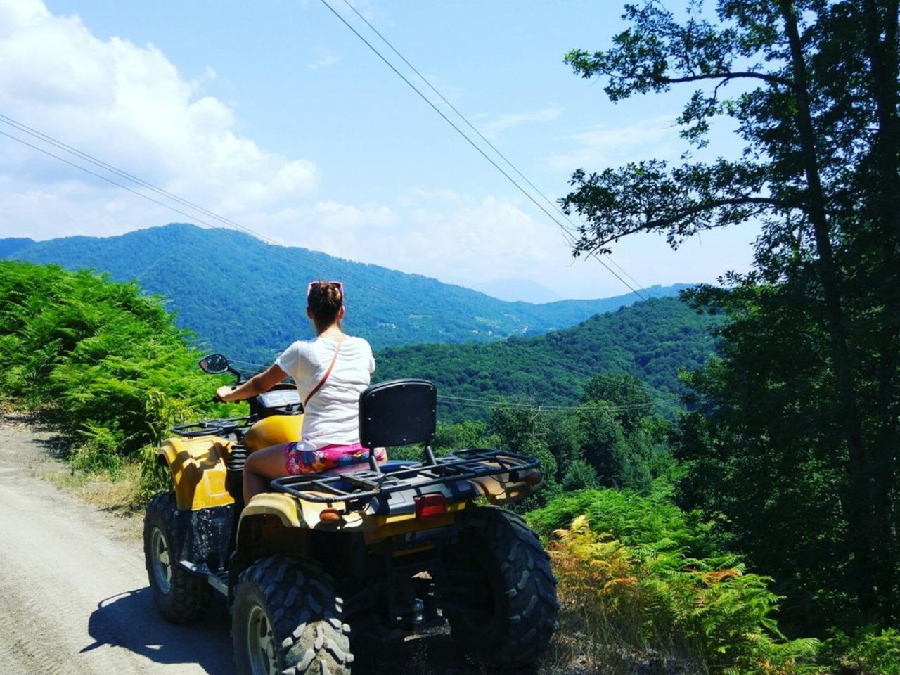 Поездка на квадроциклах к водопаду и дольменам - индивидуальная экскурсия в Сочи от опытного гида