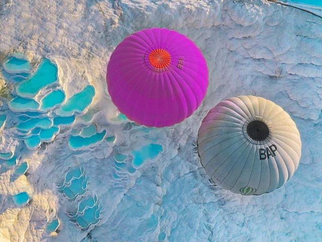 Из Белека над Памуккале на воздушном шаре