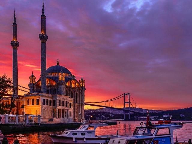 Огни Стамбула: Галатский мост, Каракёй и Чамлыджа