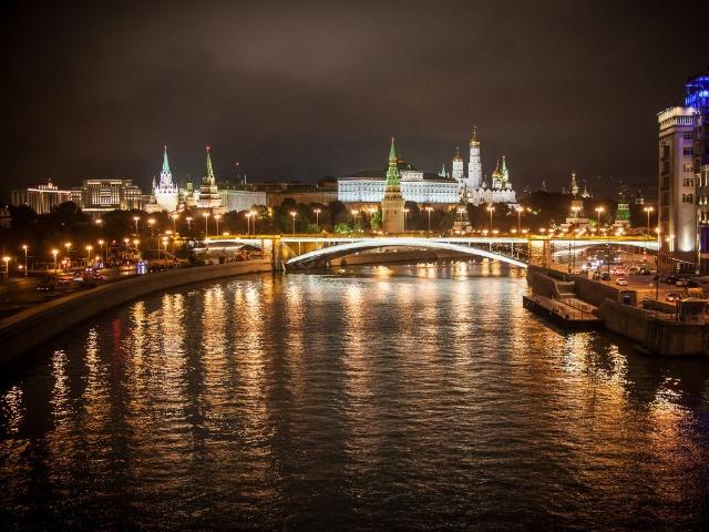 Москва в ночных огнях