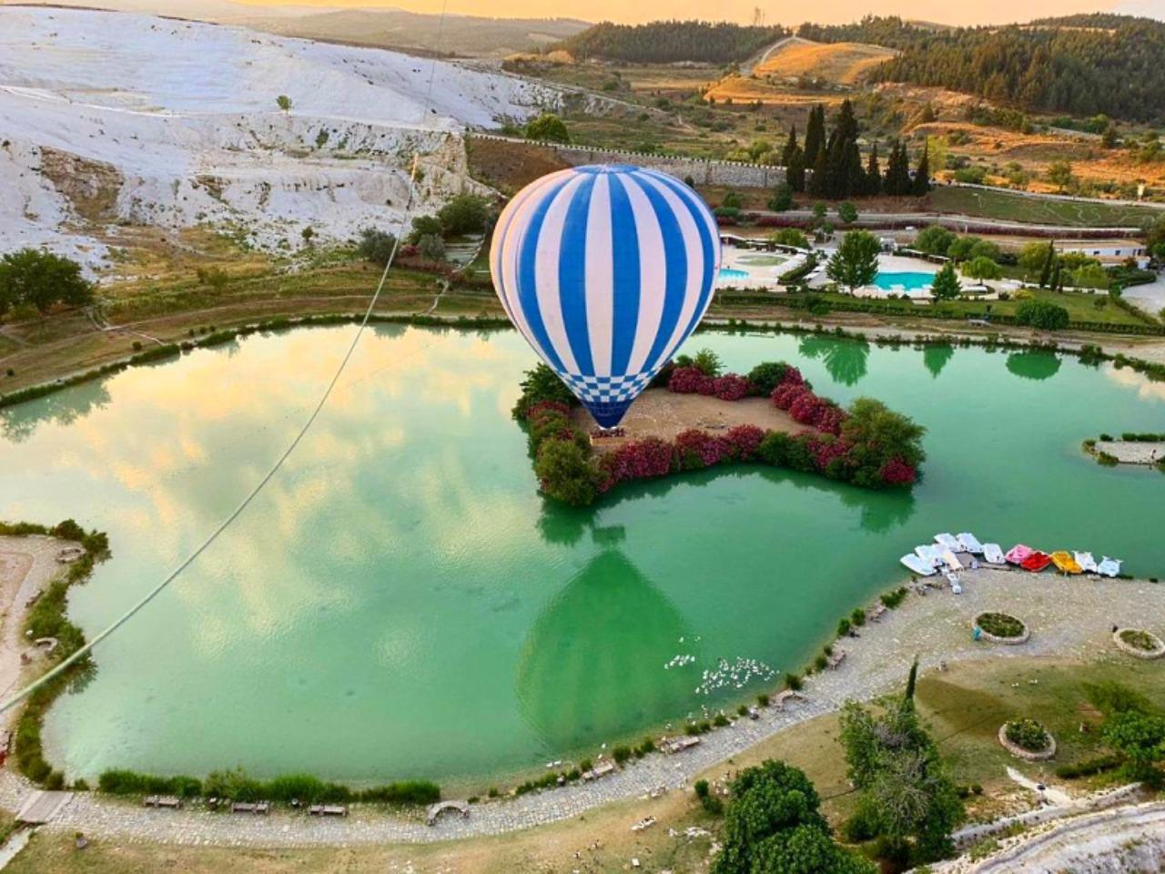 Из Сиде над Памуккале на воздушном шаре - групповая экскурсия в Сиде от опытного гида