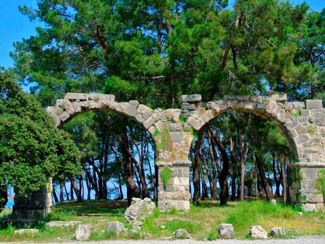 Античный город Фаселис и канатная дорога